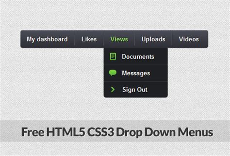 free html templates with drop menu 46 creative free drop menus in html5 and css3