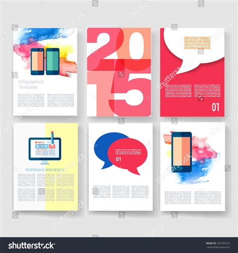 Vector Brochure Design Templates Collection Ad And Infographic Concept Flyer Brochure Design Advertisement Design Templates
