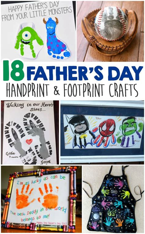 fathers day kid crafts s day handprint and footprint crafts for
