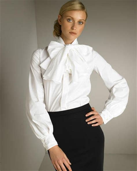 White High Neck Blouse With Bow by Wearing Bows A Gallery On Flickr