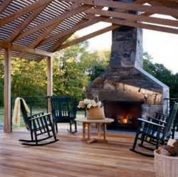 outdoor deck with fireplace for the home