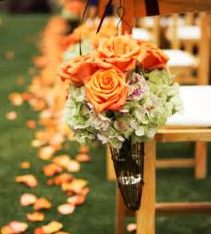 orange wedding colors summer wedding color schemes 2013