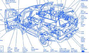 ford explorer  starter electrical circuit wiring diagram carfusebox
