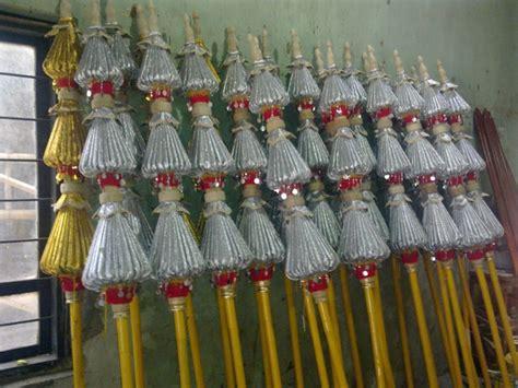 Payung Tari Brukat Hias Tradisional payung hias susun tiga pusat payung hias