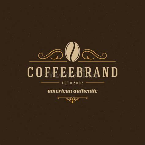 coffee shop logo design online coffee shop logo design element stock vector