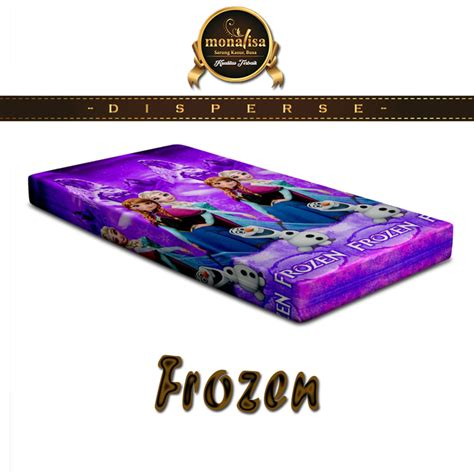 Kasur Lantai Frozen sarung kasur monalisa disperse frozen ungu warungsprei