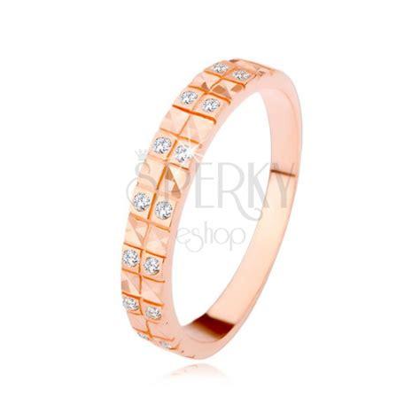 Eheringe Kupferfarben by Kupferfarbener Silberring 925 Diamantenschnitt Klare