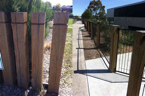 Landscape Timbers As Fence Post Australian Hardwood Timber Supplier Posts And Landscape