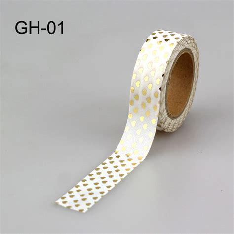 15mm X 10m Foil Masking Washi Selotip Kertas Motif 1 1pcs 15mm 10m japanese gold foil washi decorative