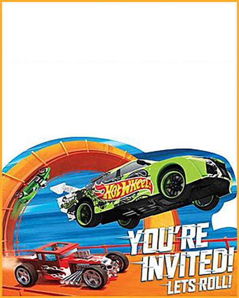 Free Printable Hot Wheels Invitation Templates For Download Wheels Birthday Invitation Template