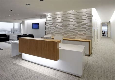 Reception Area Desk Textured Wall Dental Office Ideas Reception Desks Receptions And Desks