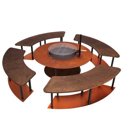 feuerstelle rechteckig feuerstelle circle set mit grill und b 228 nken