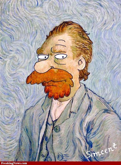 art parody van gogh like the simpsons parodies pinterest