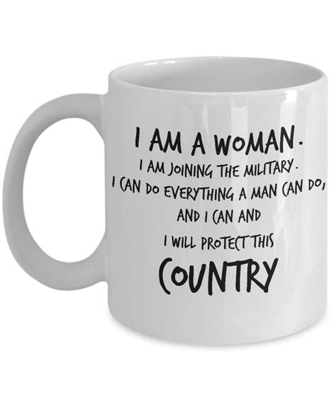 Where Can I Buy An International Visa Gift Card - veteran coffee mug i am a woman i am joining the military i can do everything a
