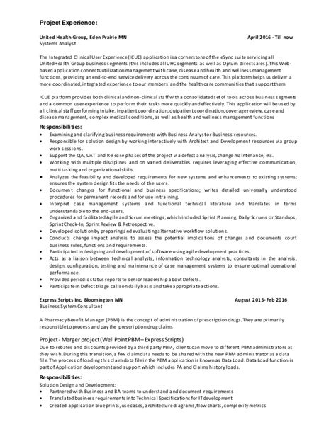 resume padmashree business systems analyst