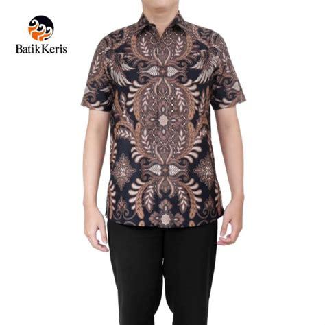 Cendrawasih Batik Slim Fit kemeja batik formal lengan pendek motif peksi cendrawasih