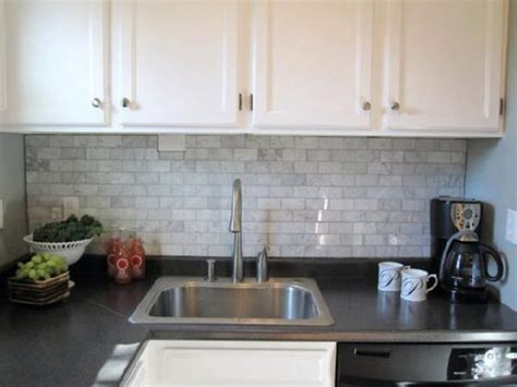 Grey Kitchen Backsplash Carrara Backsplash Transitional Kitchen Sherwin