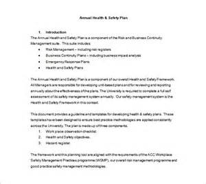 safety plan templates health and safety plan templates 8 free word pdf