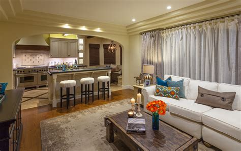 transitional family room kitchen combo decosee com 20 best small kitchen and living room interior combo