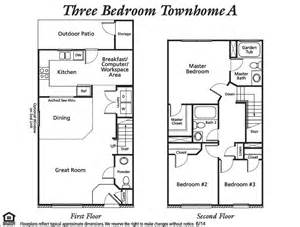 3 bedroom townhouse floor plans floor plans and rates the reserve townhomes
