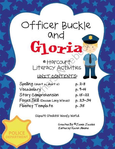 Officer Buckle And Gloria Activities by Officer Buckle Gloria Harcourt From Mrs Class On