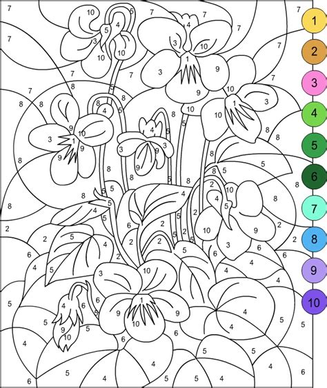 free color by number for adults s free coloring pages