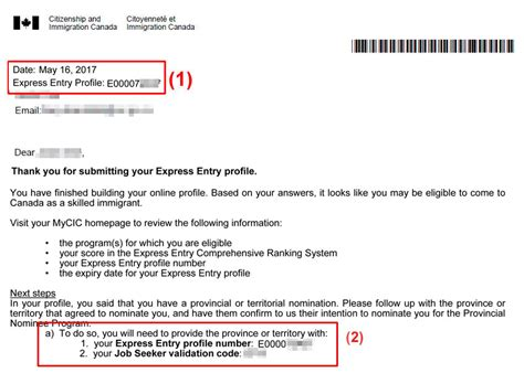 Employment Letter Express Entry Where Can I Find My Express Entry Profile Number And Or Seeker Validation Code