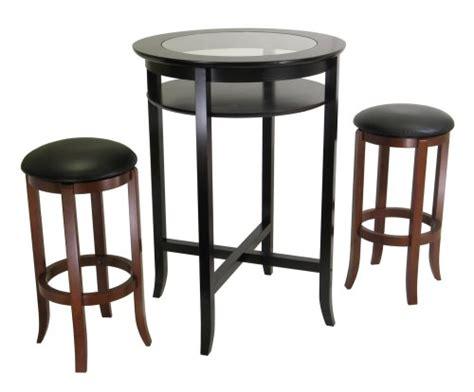 30 Inch Wood Bar Stools Winsome Wood 30 Inch Black Pvc Seat Walnut Bar Stools Set