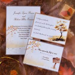 wedding invitation ideas top 5 autumn fall wedding invitation ideas