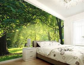 custom 3d wallpaper idyllic scenery and flowers
