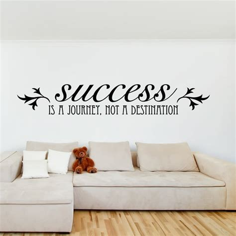 inspirational quotes wall stickers success is a journey and inspirational quote wall stickers home decals