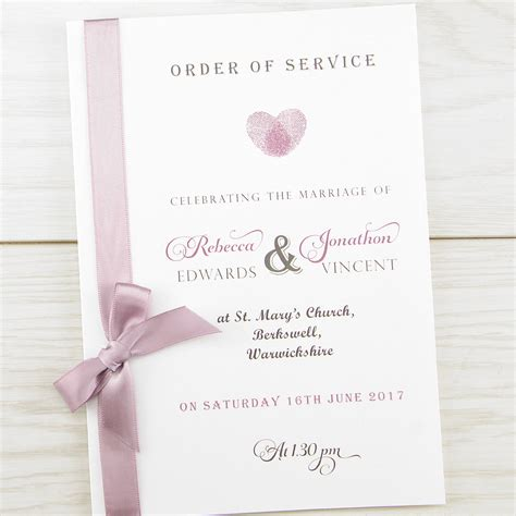 wedding blessing order of service template thumb order of service invitation wedding invites