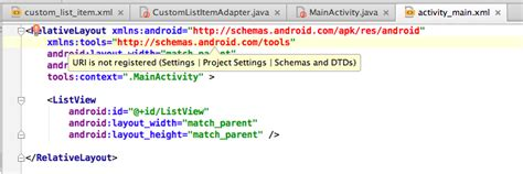 android layout uri is not registered android studioで非android studioのプロジェクトを読み込んだらuri is not