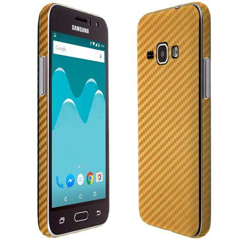 Samsung J1 Gold skinomi techskin samsung galaxy j1 2016 gold carbon