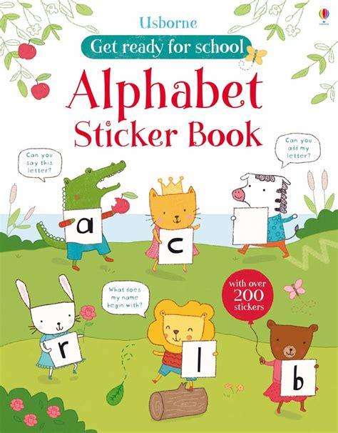Usborne My Sticker Book get ready for school alphabet sticker book at usborne