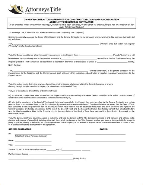 contractor contract template letter of intent or contract photo essay to my