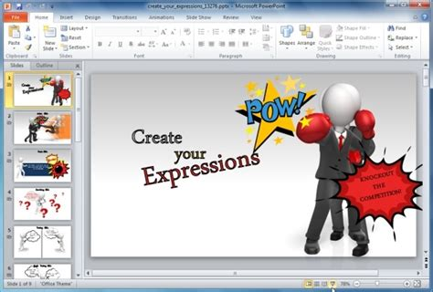 Create Custom Expressions With Graphics Using Powerpoint Template Creating Powerpoint Templates