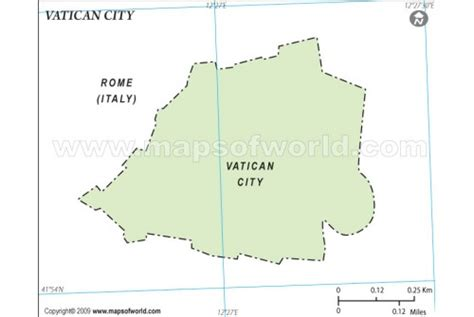 Vatican City Map Outline by Buy Vatican City Outline Map