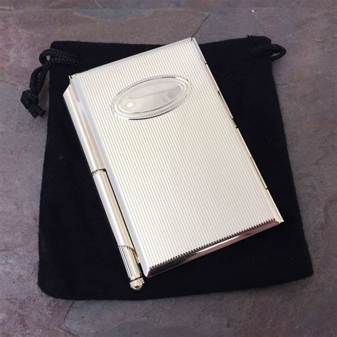 Pocket Memo Pad personalised pocket memo pad oval silver plated cover