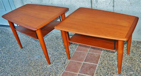 matching coffee table and end tables teak boomerang coffee table and matching pair of side