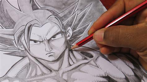 imagenes de goku oscuro goku super sayayin dios estilo de dibujo improvisado