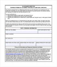 advance care directive template advance directive form 9 free documents in pdf