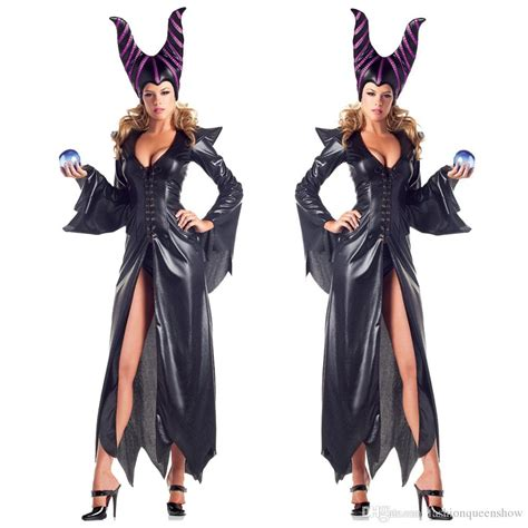 themes in black robe sexy magic witch cosplay long dress women halloween themed