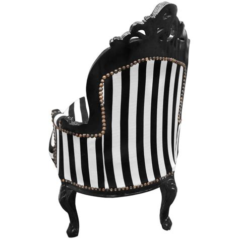 black and white chaise baroque chaise longue black and white striped fabric with