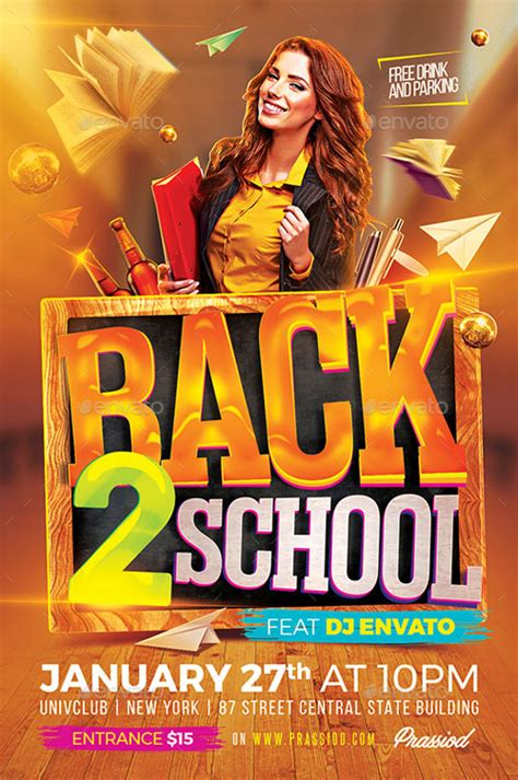 Back To School Template Flyer