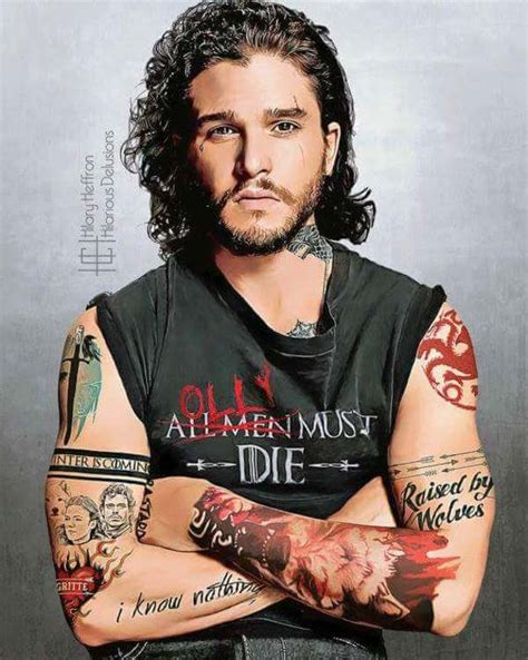 actors with tattoos of thrones actors reimagined with accurate tattoos dhtg