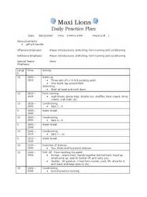 youth football practice plan template