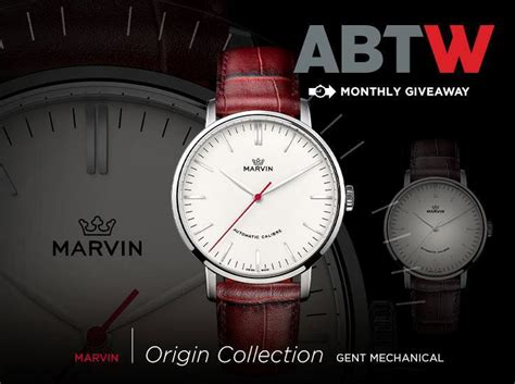 Origin Giveaway - watch giveaway marvin origin gent mechanical ablogtowatch