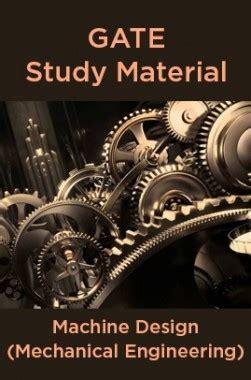 Gate Pattern Mechanical Engineering | gate study material machine design mechanical engineering