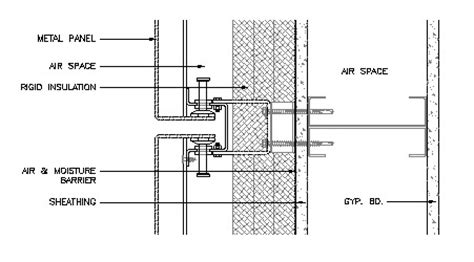 Steel Wall Section by Building Envelope Thermal Moisture Analysis